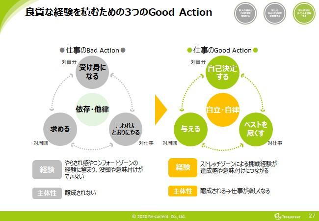 新入社員が良質な経験を積むための3つのgoodaction