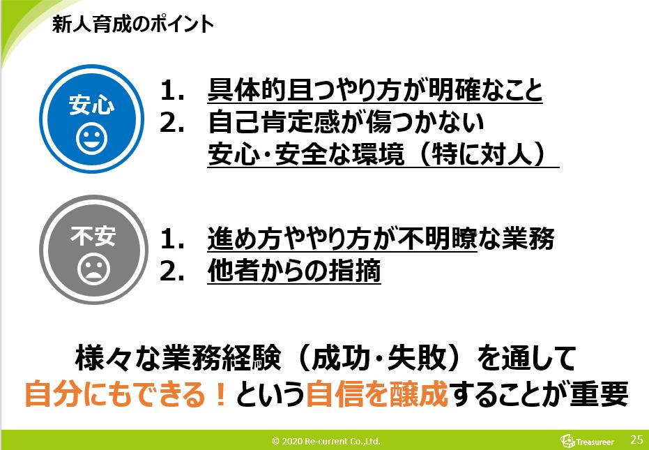 トレジャリア・新人育成のポイント